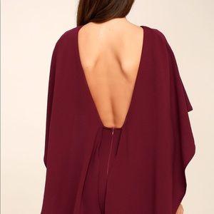 Lulus Burgundy Backless Dress